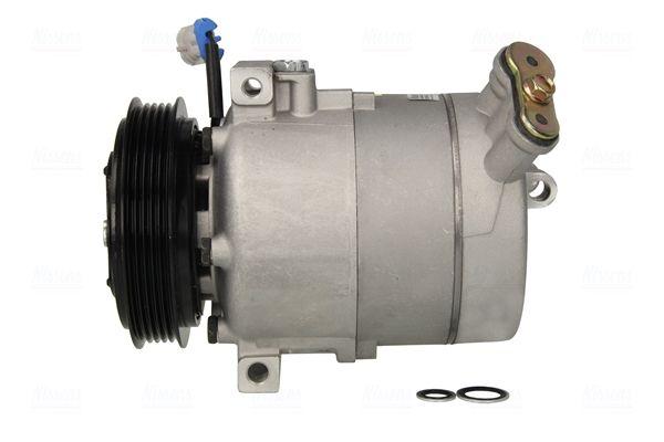 Klimakompressor OPEL Zafira Life (K0) 2019 - NISSENS 89308 (Riemenscheiben-Ø: 125mm, Anzahl der Rillen: 5)
