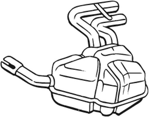 MINI Cabrio 2010 Nachschalldämpfer - Original BOSAL 247-041