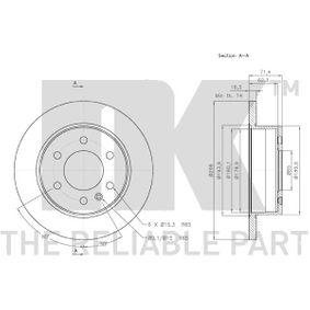 3147122 Disco de travão NK - Produtos de marca baratos