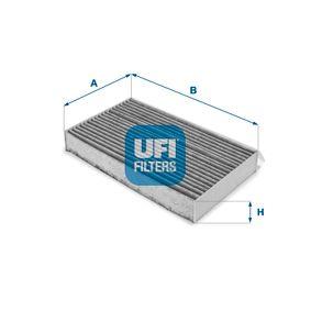 54.217.00 UFI Aktivkohlefilter Breite: 259,0mm, Höhe: 35,0mm, Länge: 149,0mm Filter, Innenraumluft 54.217.00 günstig kaufen