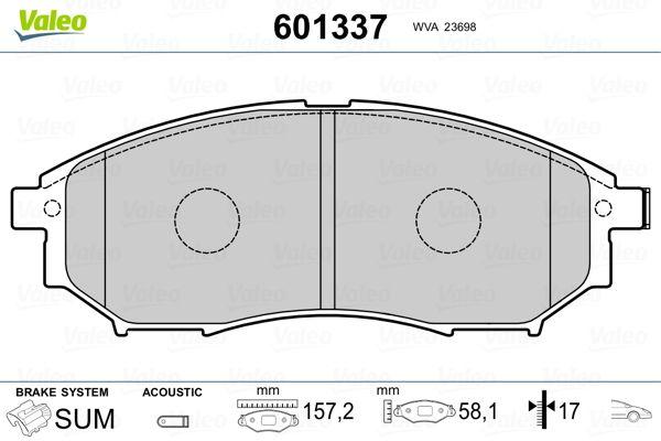 Bremsbelagsatz VALEO 601337