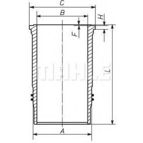 MAHLE ORIGINAL Cylinderhylsa 037 WN 56 - köp med 23% rabatt