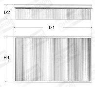 CHAMPION Luftfilter U665/606