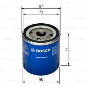 F 026 407 024 Filtre à huile BOSCH - Produits de marque bon marché