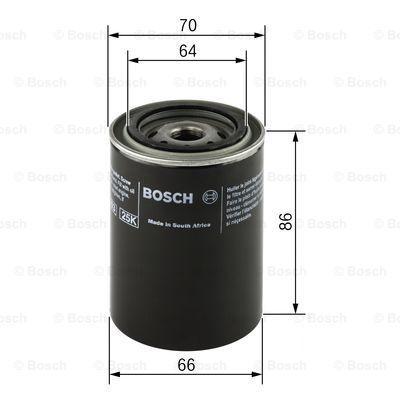 F 026 407 025 Motorölfilter BOSCH in Original Qualität