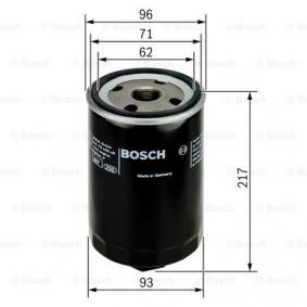 """F026407052 Filtre à huile BOSCH - L""""expérience à prix réduits"""