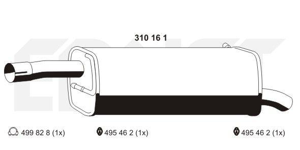 Endschalldämpfer 310161 Ford FIESTA 2005
