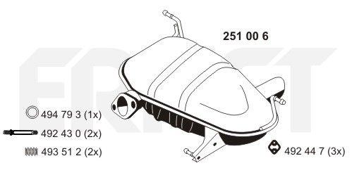 ERNST: Original Endschalldämpfer 251006 ()