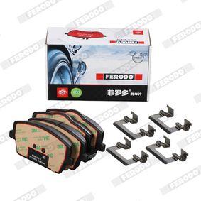 FDB1617 FERODO SL nicht für Verschleißwarnanzeiger vorbereitet, mit Bremssattelschrauben Höhe: 52,3mm, Dicke/Stärke: 16,8mm Bremsbelagsatz, Scheibenbremse FSL1617 günstig kaufen