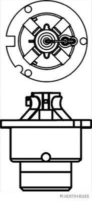 89901220 Glühlampe, Fernscheinwerfer HERTH+BUSS ELPARTS - Markenprodukte billig