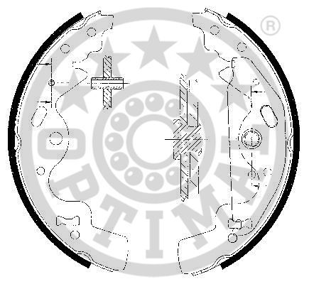 OE Original Bremsklötze für Trommelbremse BB-7251 OPTIMAL