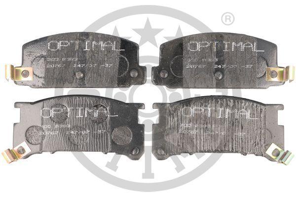 SUBARU LEONE 1987 Bremsbelagsatz - Original OPTIMAL 9393 Breite 1: 46mm, Breite: 53,2mm, Dicke/Stärke: 15mm