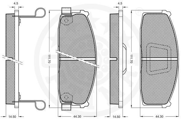 9394 Bremsbeläge OPTIMAL 9394 - Große Auswahl - stark reduziert