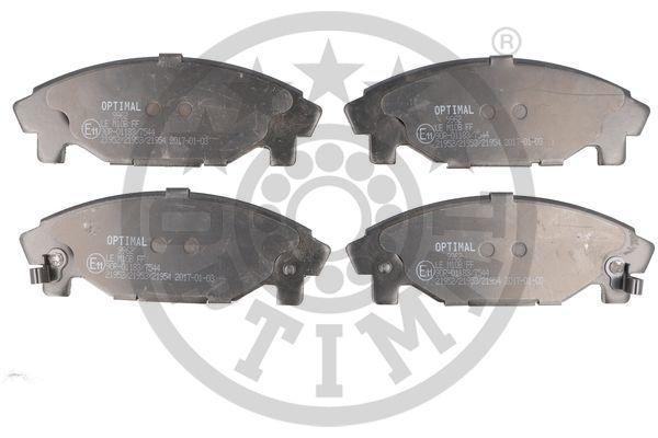 DAIHATSU GRAN MOVE 2016 Bremsbeläge - Original OPTIMAL 9962 Breite: 45,3mm, Dicke/Stärke: 15,6mm
