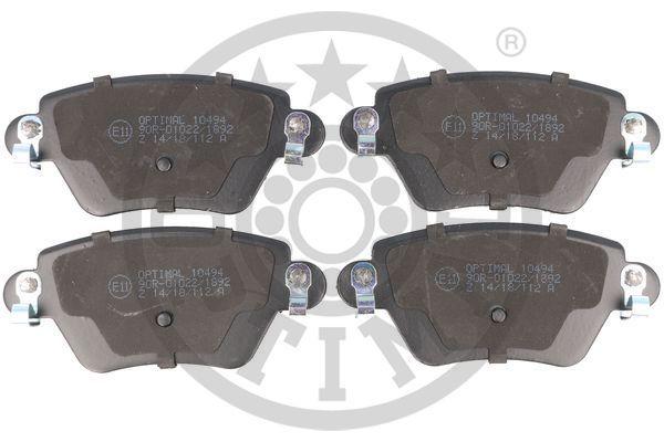 23557 OPTIMAL Hinterachse Breite: 51,8mm, Dicke/Stärke: 17,2mm Bremsbelagsatz, Scheibenbremse 10494 günstig kaufen