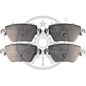 23557 OPTIMAL Hinterachse Breite: 52mm, Dicke/Stärke: 15,9mm Bremsbelagsatz, Scheibenbremse 12249 günstig kaufen