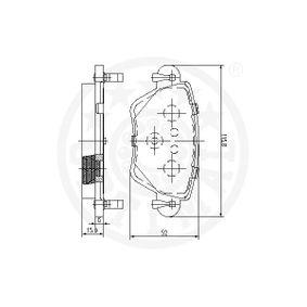 12249 Bremsbelagsatz OPTIMAL - Markenprodukte billig