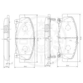 12367 Bremsbelagsatz OPTIMAL - Markenprodukte billig