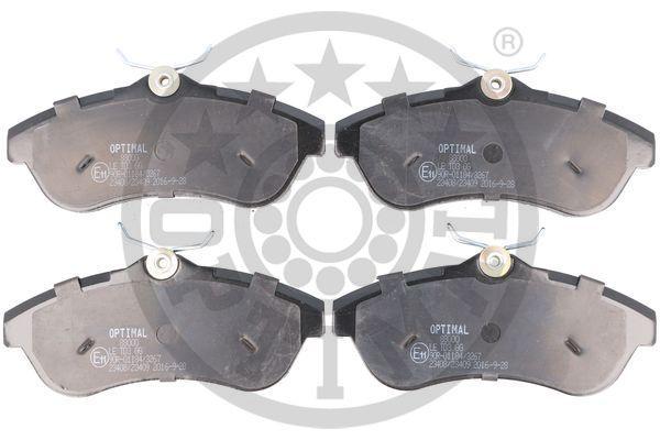23409 OPTIMAL Vorderachse, nicht für Verschleißwarnanzeiger vorbereitet Breite: 56,2mm, Dicke/Stärke: 19,3mm Bremsbelagsatz, Scheibenbremse 88000 günstig kaufen