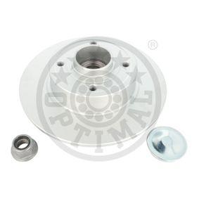 702982BS1 OPTIMAL Hinterachse, links, rechts, Voll, beschichtet, mit integriertem Radlager, mit integriertem ABS-Sensor Ø: 240mm, Bremsscheibendicke: 8mm Bremsscheibe 702982BS1 günstig kaufen