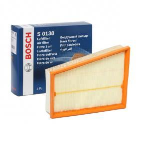 Luftfilter F 026 400 138 RENAULT SCÉNIC Niedrige Preise - Jetzt kaufen!