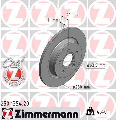 Original VOLVO Bremsscheibe 250.1354.20