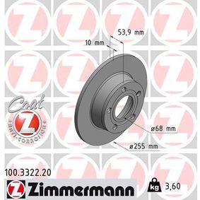 1x Bremsscheibe Bremse NEU ZIMMERMANN 100.3345.75