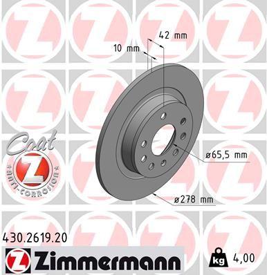 Bremsscheibe ZIMMERMANN 430.2619.20