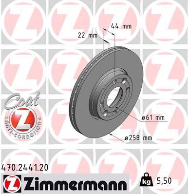 ZIMMERMANN Bremsscheibe 470.2441.20
