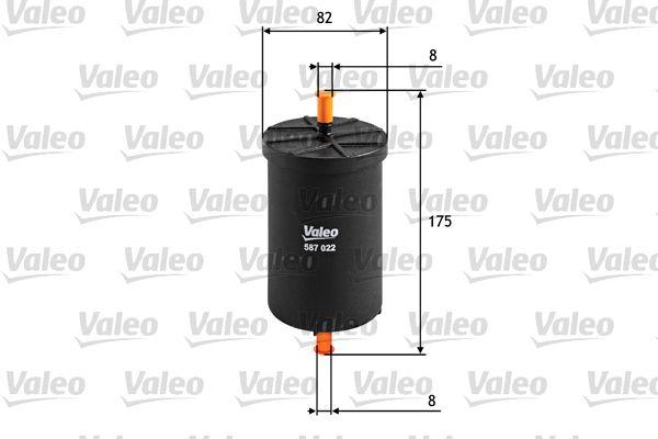 Palivový filtr 587022 s vynikajícím poměrem mezi cenou a VALEO kvalitou