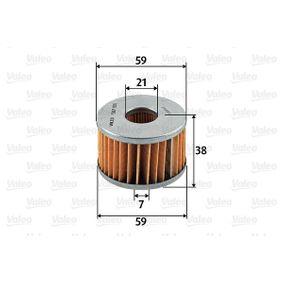 587931 VALEO Filtereinsatz Höhe: 38mm Kraftstofffilter 587931 günstig kaufen