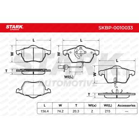C5 STARK Kit de plaquettes de frein frein à disque AVANT AUDI A6 4B2