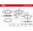 SKBP-0010033 STARK Stabdžių trinkelių rinkinys, diskinis stabdys - įsigyti internetu