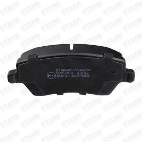 SKBP-0010061 STARK exkl. Verschleißwarnkontakt Höhe: 52,5mm, Breite: 116,4mm, Dicke/Stärke: 17,3mm Bremsbelagsatz, Scheibenbremse SKBP-0010061 günstig kaufen