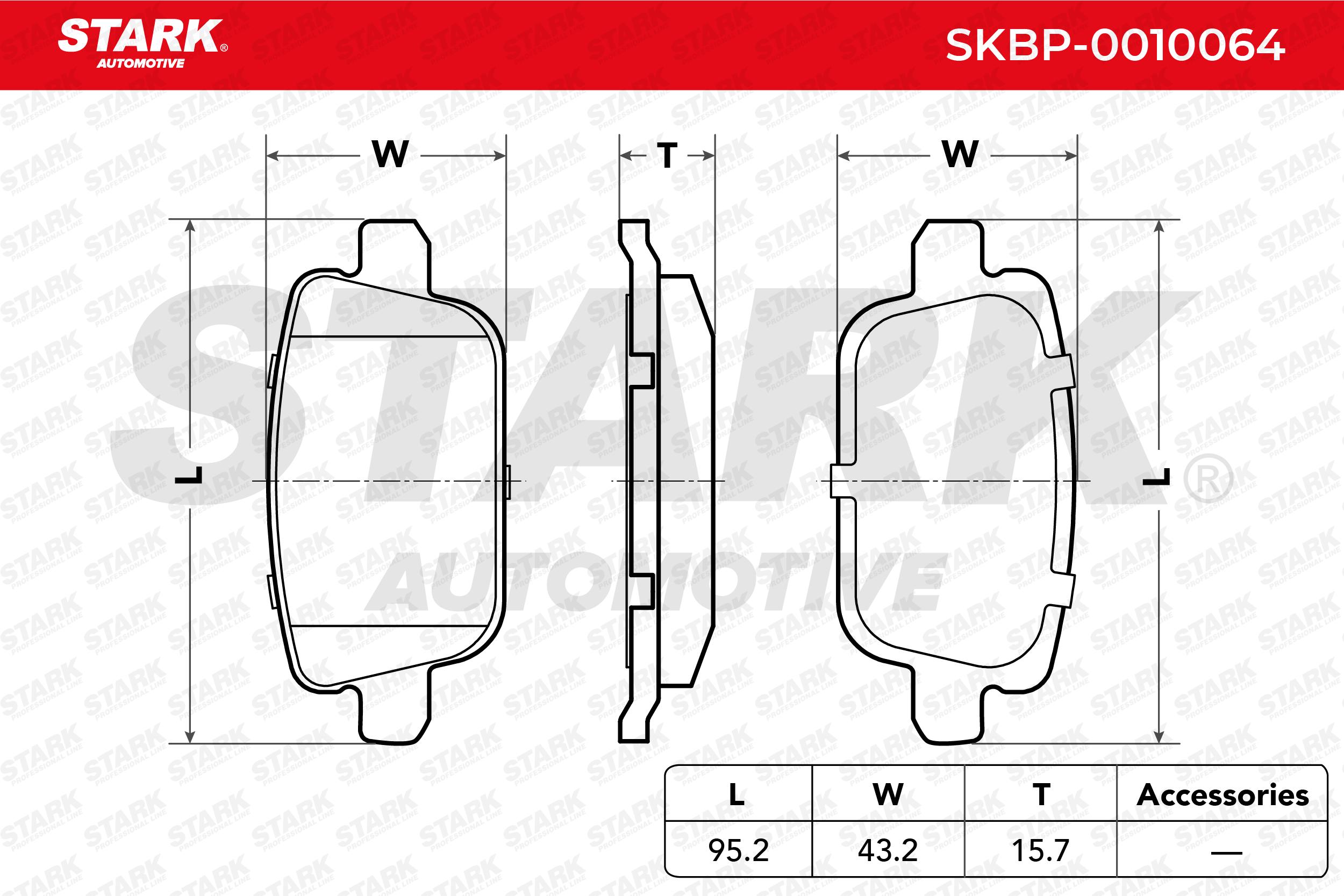 STARK | Bremsbelagsatz, Scheibenbremse SKBP-0010064