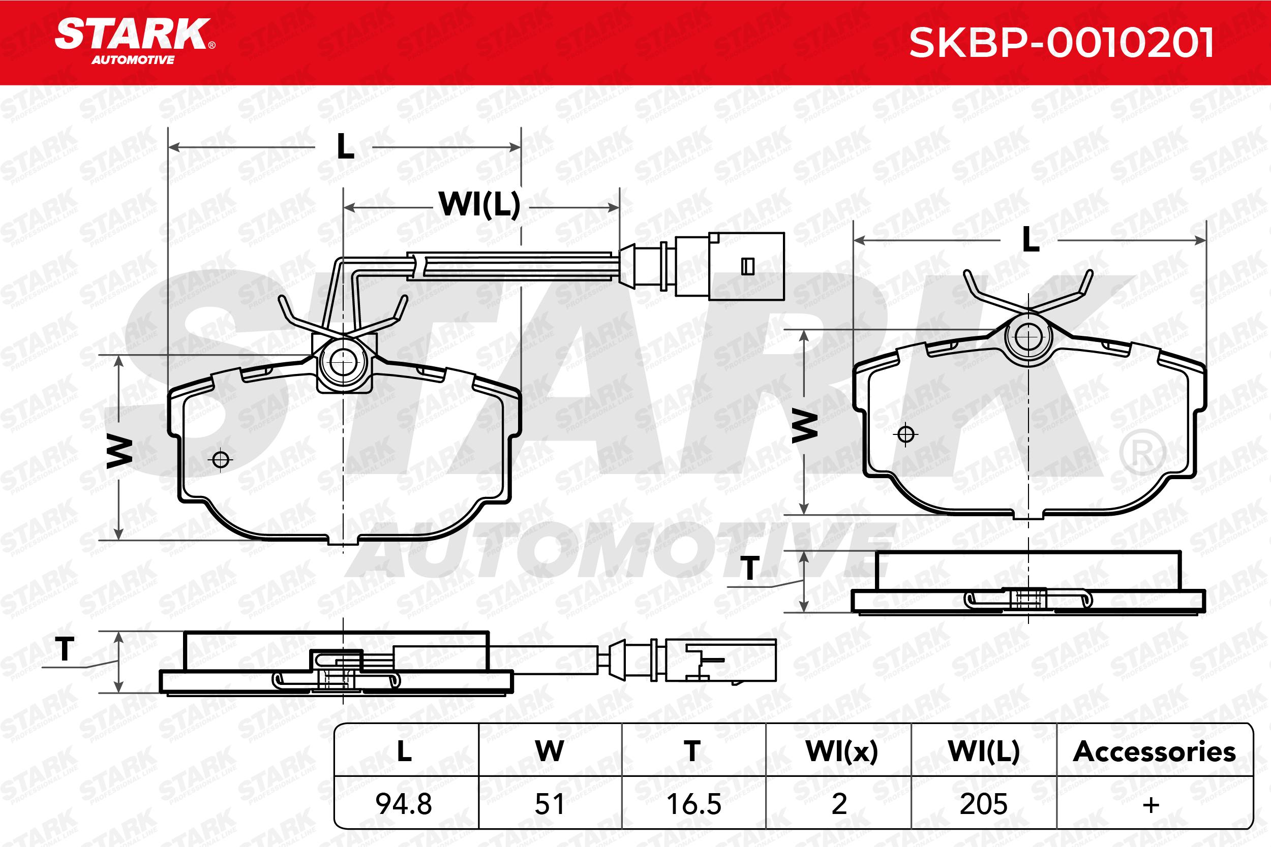 STARK Bremsbelagsatz, Scheibenbremse SKBP-0010201