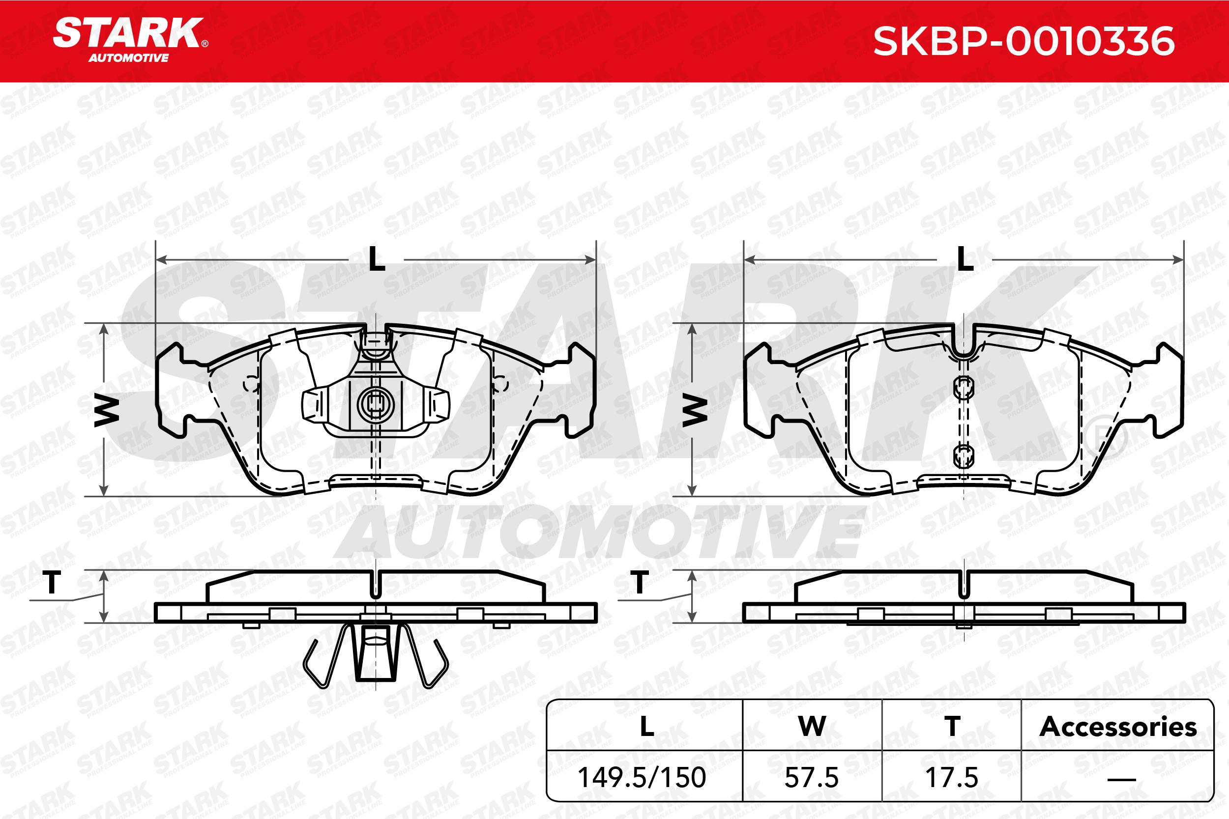 STARK | Bremsbelagsatz, Scheibenbremse SKBP-0010336