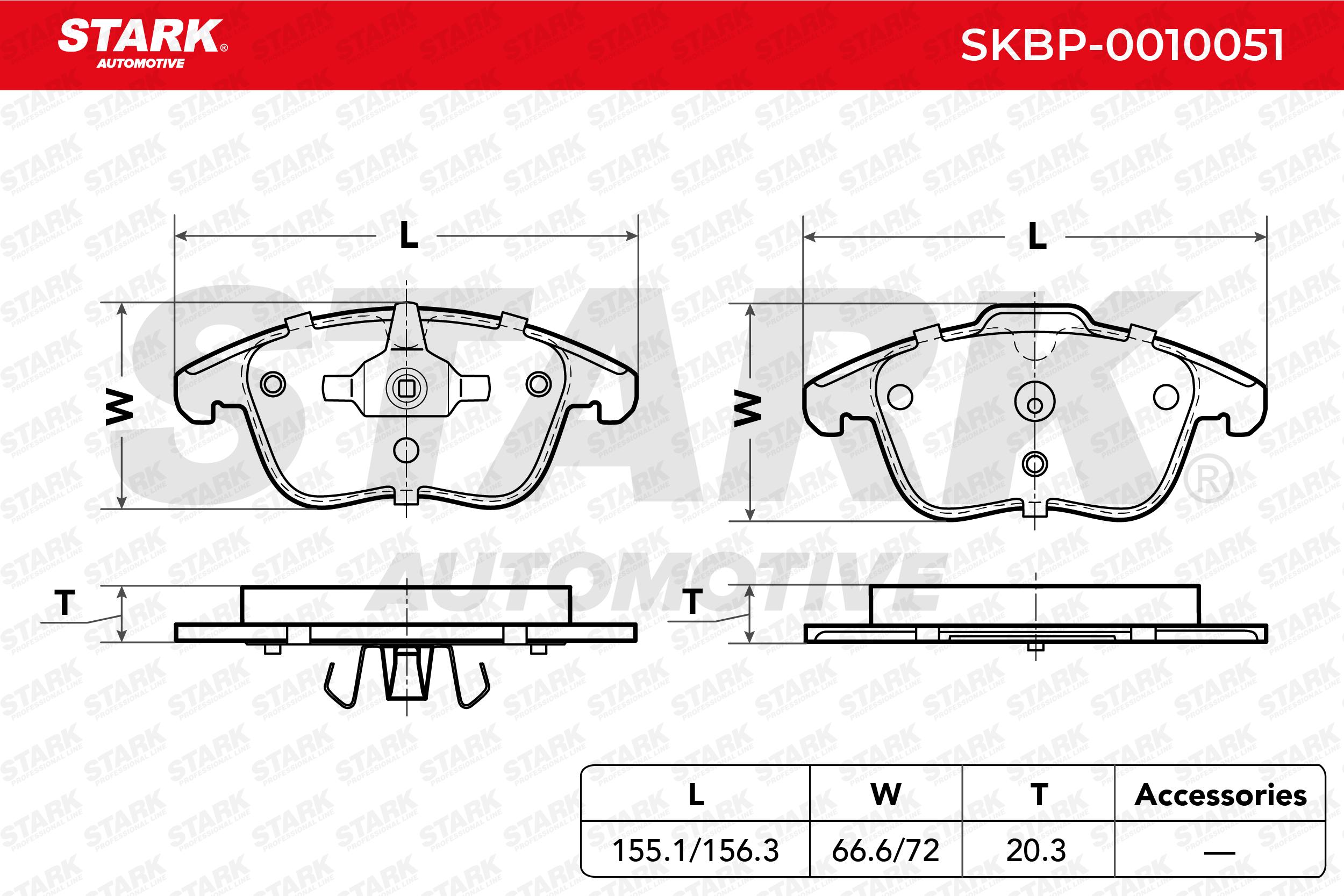 STARK | Bremsbelagsatz, Scheibenbremse SKBP-0010051