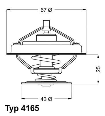 WAHLER Thermostat, Kühlmittel 4165.79D