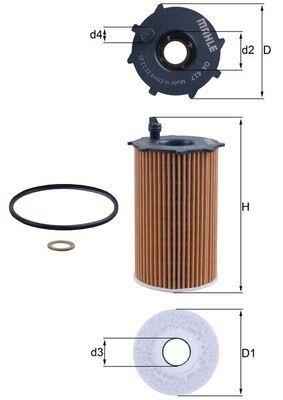 Original HYUNDAI Oil filter OX 417D