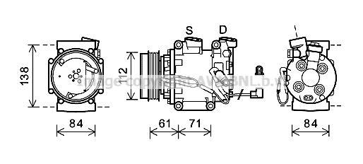 Original HONDA Kompressor Klimaanlage HDAK275