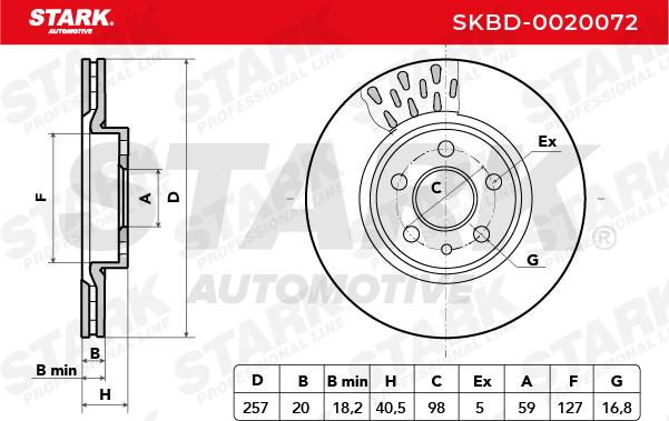 SKBD-0020072 Bremsscheiben Satz STARK Erfahrung