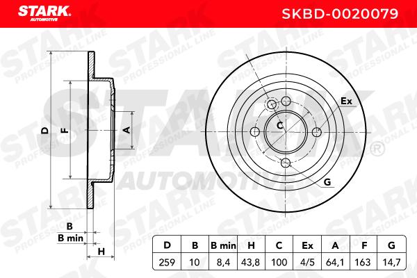 STARK   Bremsscheibe SKBD-0020079