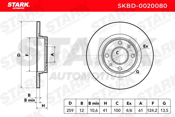 SKBD-0020080 Bremsscheibe STARK Test
