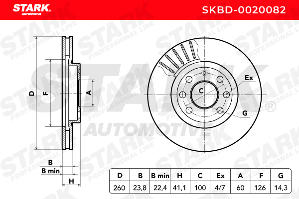 SKBD-0020082 Bremsscheibe STARK Test