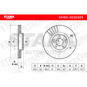 SKBD-0020309 Scheibenbremsen STARK - Markenprodukte billig