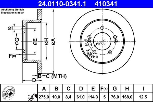 Brzdový kotúč ATE 24.0110-0341.1 Recenzií