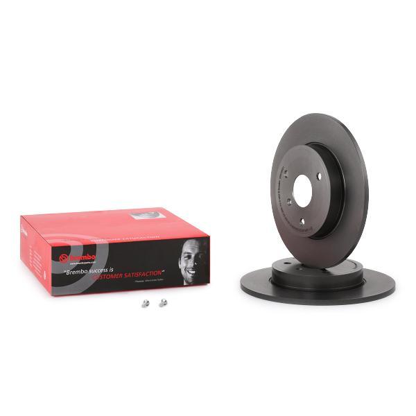 2 Bremsscheibe BREMBO 08.8163.21 COATED DISC LINE passend für SMART