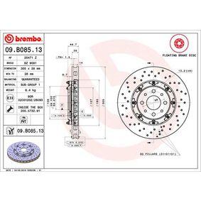 09.B085.13 Bremseskive BREMBO - Køb til discount priser