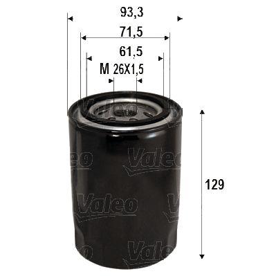 Kia K2500 VALEO Filtro aceite 586095